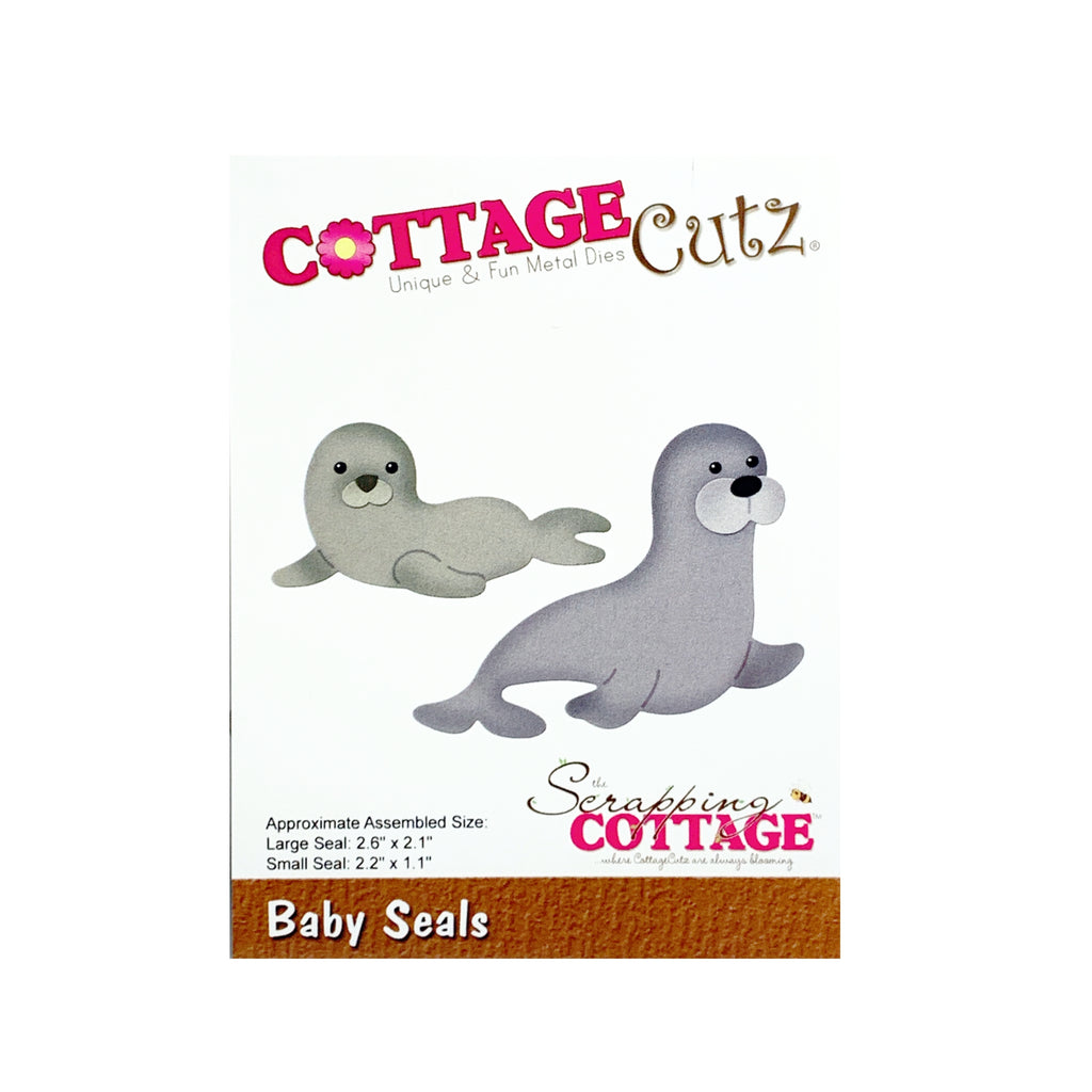 Baby Seals metal Die Cut Cottage Cutz Craft Cutting Dies CC-707