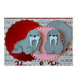 Baby Walruses metal Die Cut Cottage Cutz Craft Cutting Dies CC-708