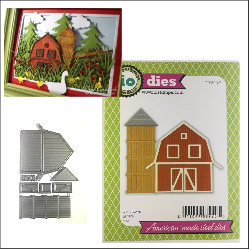 Barn and Silo Metal Die Cut Set by Impression Obsession Dies DIE399-Y - Inspiration Station Scrapbook Store & Retreat