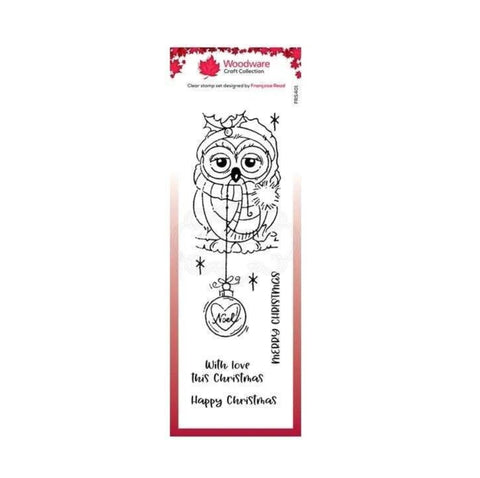 Bauble Owl Christmas Clear cling stamp set by Woodware craft stamps