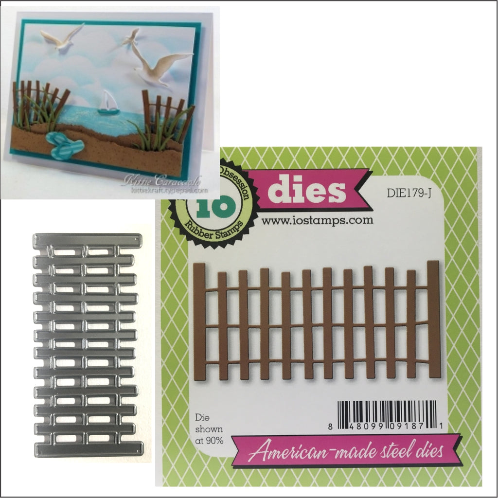 Beach Fence Die Cut by Impression Obsession Dies DIE179-J - Inspiration Station Scrapbook Store & Retreat