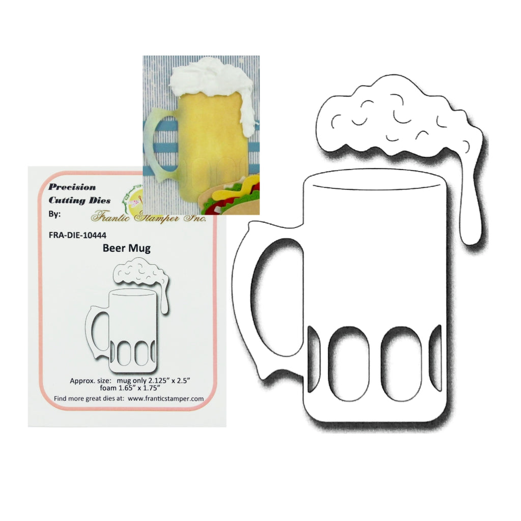 Beer Mug Metal Die Set by Frantic Stamper FRA-DIE-10444 - Inspiration Station Scrapbook Store & Retreat