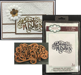 Best Wishes Thin Metal Die by Sue Wilson for Creative Expressions Dies CED5405 - Inspiration Station Scrapbook Store & Retreat