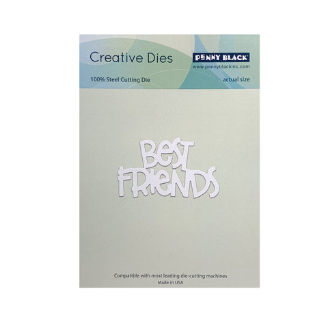 Best Friend Words Metal Die Cut Set by Penny Black cutting dies 51-417