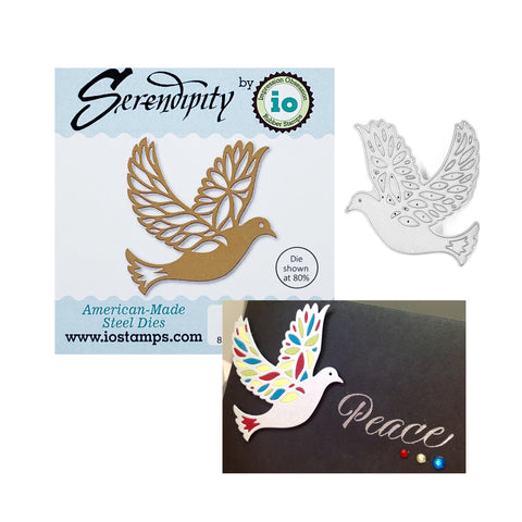 Dove Thin Metal Die Cut by Serendipity Stamps Cutting Dies 014GD - Inspiration Station Scrapbook Store & Retreat