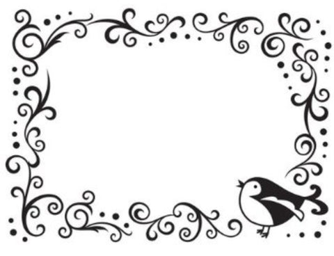 Bird and Scroll Frame Embossing Folder By Darice craft folders 1216-63