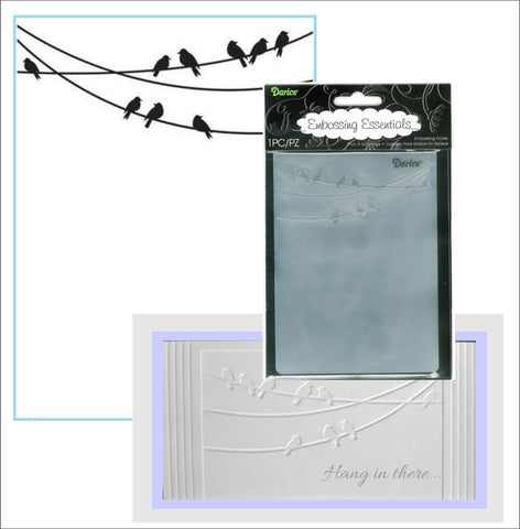 Birds on a Wire Embossing Folder By Darice Craft Folders 1218-53