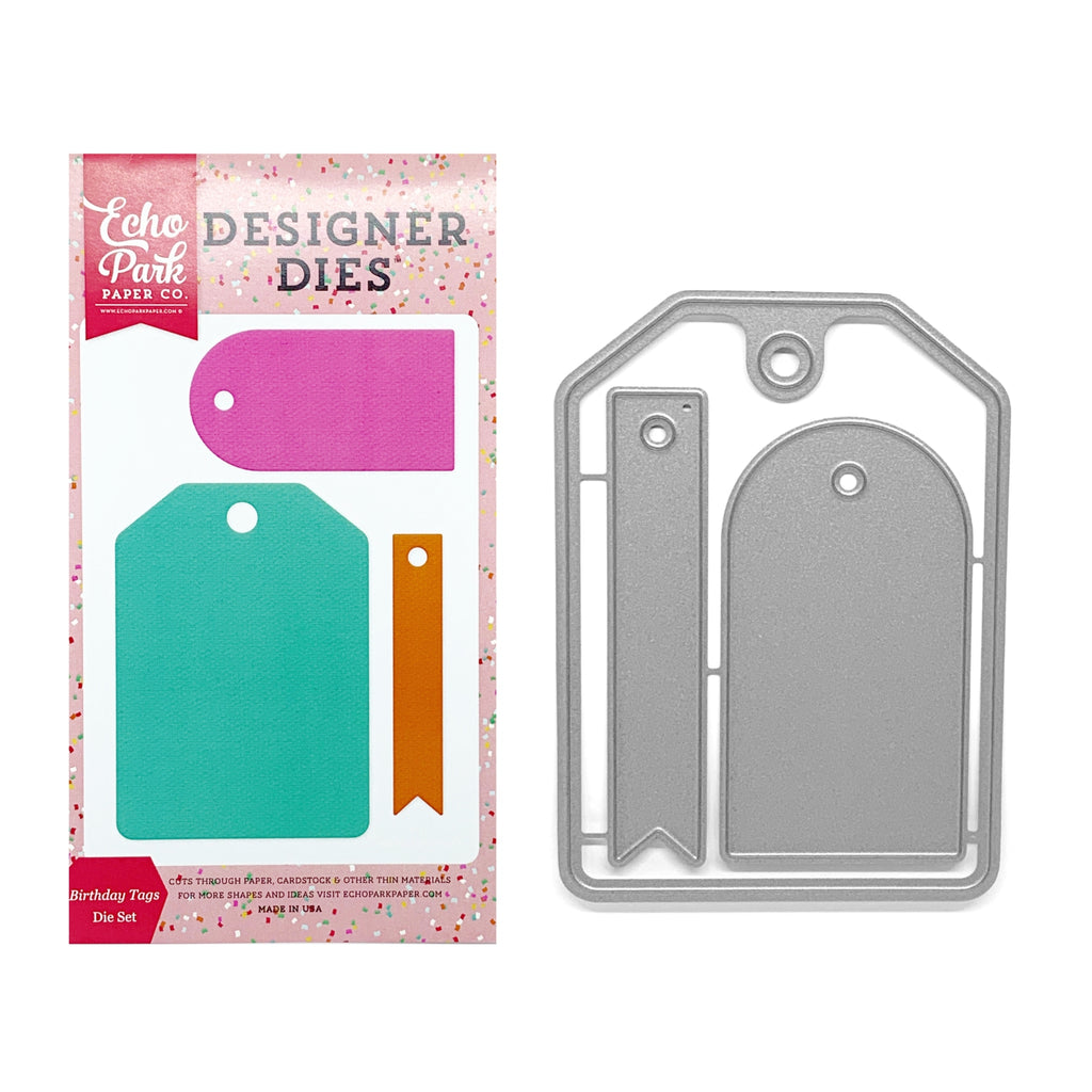 Birthday Tags Die Cut Set by Echo Park Dies PT108045 - Inspiration Station Scrapbook Store & Retreat
