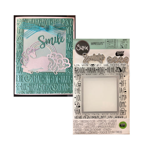 Birthday Smiles Die Cutting and Embossing Folder by Sizzix craft folders 662457
