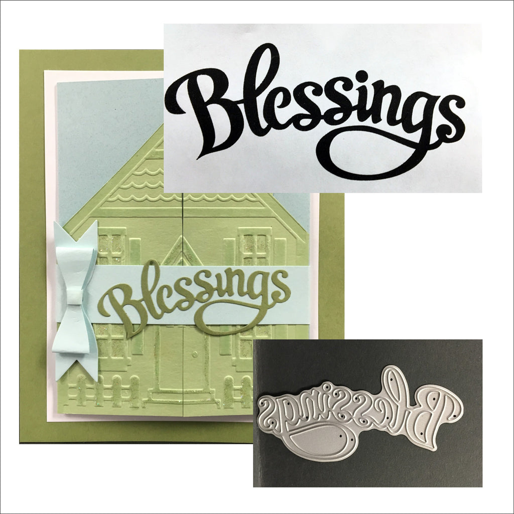 Blessings word die by SERENDIPITY STAMPS Die 023CD - Inspiration Station Scrapbook Store & Retreat