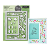 Blooming Branches Sidekick Frame and Stencil Metal Die Set by Poppystamps Dies 2223 - Inspiration Station Scrapbook Store & Retreat