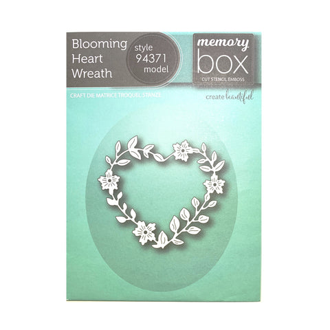 Blooming Heart Wreath Die Cut by Memory Box Dies 94371 - Inspiration Station Scrapbook Store & Retreat