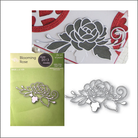 Blooming Rose Die Cut By Poppystamps Dies 2013 - Inspiration Station Scrapbook Store & Retreat
