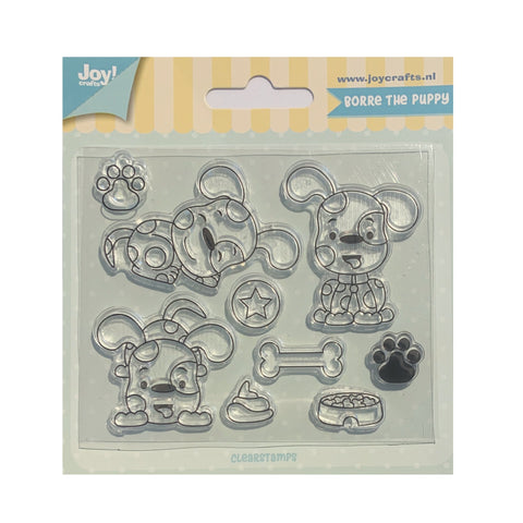 Borre The Puppy Stamp Set by Joy Crafts 6410/0519 - Inspiration Station Scrapbook Store & Retreat