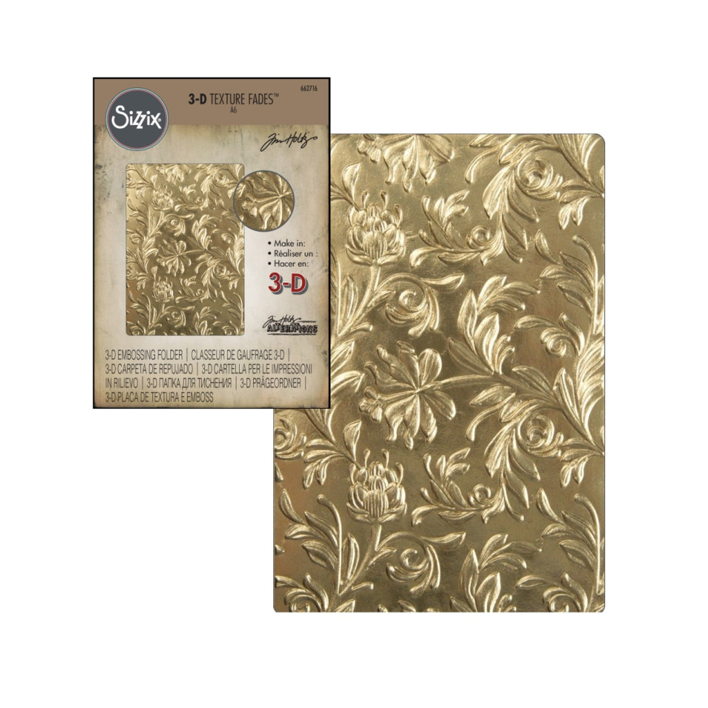 Botanical 3-D Embossing Folder by Tim Holtz for Sizzix Embossing Folders 662716 - Inspiration Station Scrapbook Store & Retreat
