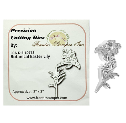 Botanical Easter Lily Steel Craft Die by Frantic Stamper FRA-DIE-10773 - Inspiration Station Scrapbook Store & Retreat