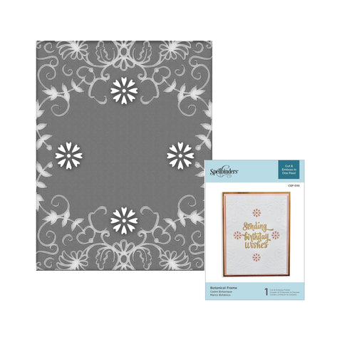 Botanical Frame Spellbinders Cut & Emboss Embossing Folder CEF-010 - Inspiration Station Scrapbook Store & Retreat