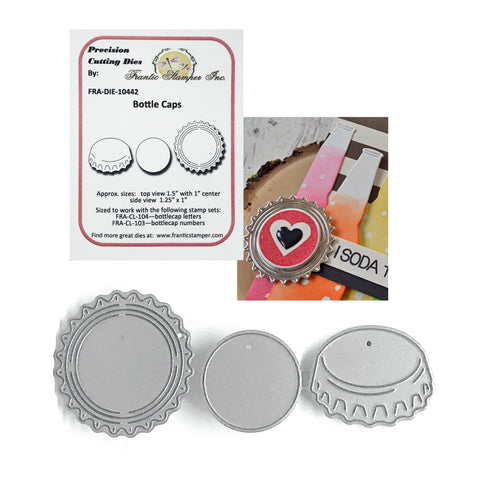 Bottle Caps Metal Die Set by Frantic Stamper FRA-DIE-10442 - Inspiration Station Scrapbook Store & Retreat