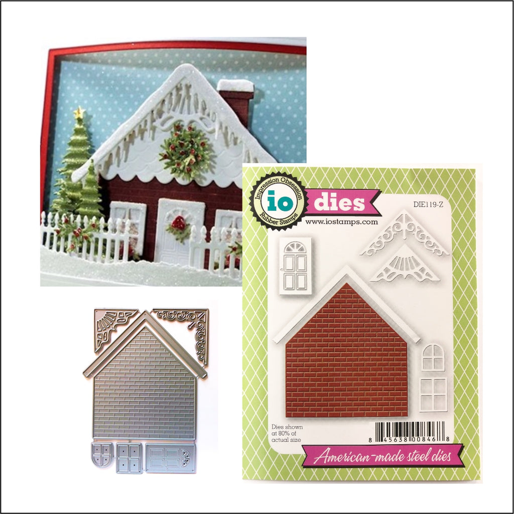 Brick House Metal Die Cuts by Impression Obsession Dies DIE119-Z - Inspiration Station Scrapbook Store & Retreat