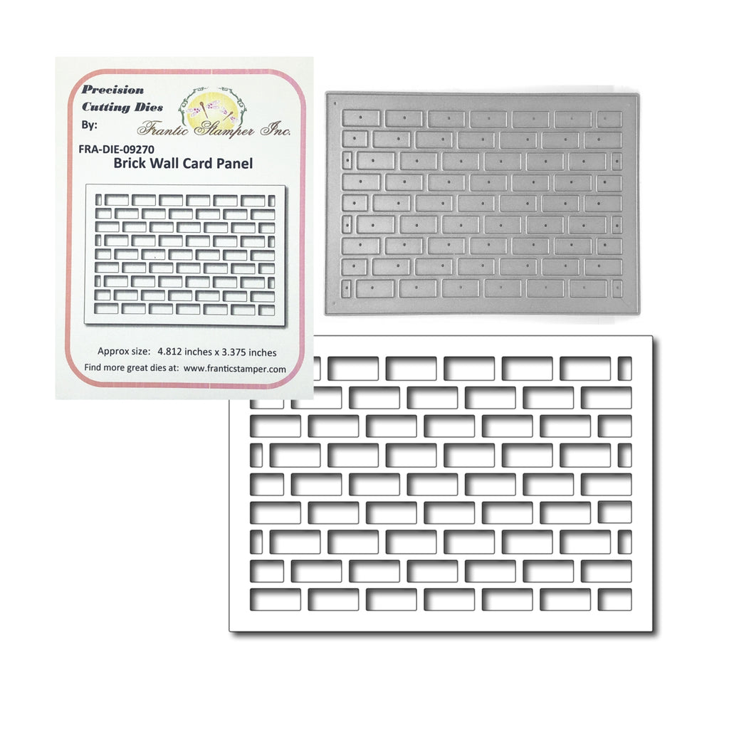 Brick Wall Card Panel Die by Frantic Stamper Dies FRA-DIE-09270 - Inspiration Station Scrapbook Store & Retreat