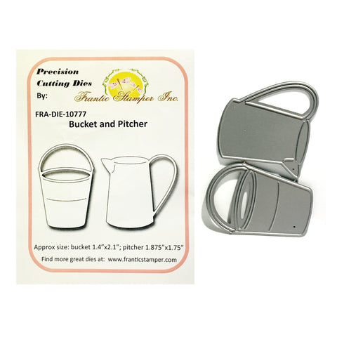 Bucket and Pitcher Die Cut Set by Frantic Stamper Dies FRA-DIE-10777 - Inspiration Station Scrapbook Store & Retreat