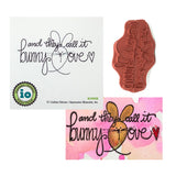 Bunny Love Stamp by Impression Obsession Stamps D19925 - Inspiration Station Scrapbook Store & Retreat