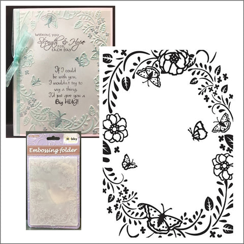 Butterfly Frame Embossing Folder by Nellie Snellen HSF016 - Inspiration Station Scrapbook Store & Retreat