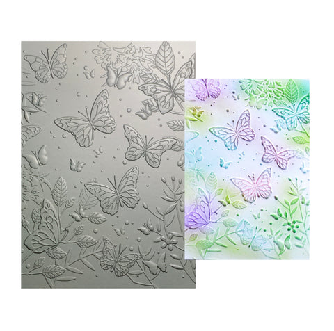 Butterfly Gathering 3D Embossing Folder by Memory Box craft folders EF1005
