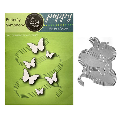 Butterfly Symphony Metal Die Cut by Poppystamps Craft Cutting Dies 2334 - Inspiration Station Scrapbook Store & Retreat