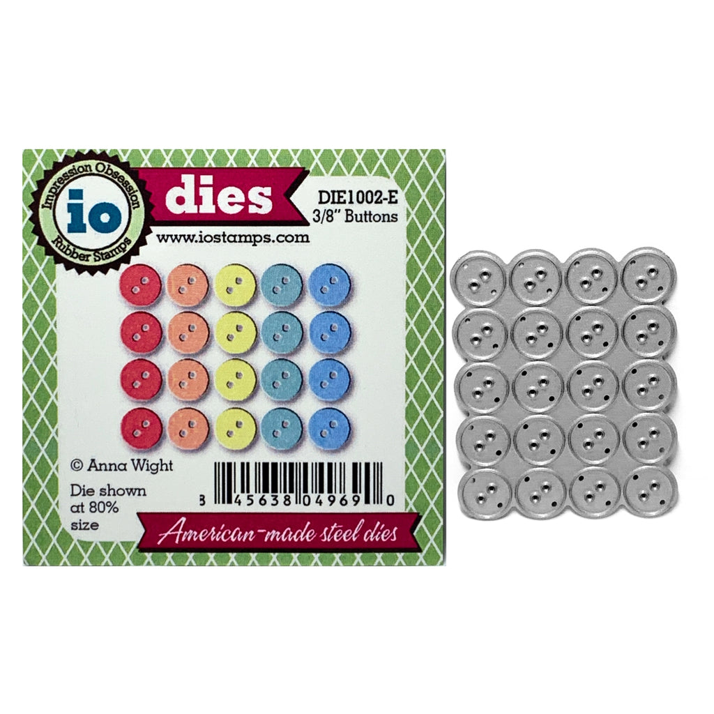 3/8 inch Buttons Metal Die Cut Set by Impression Obsession craft dies DIE1032-A