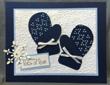 Diamond Knit border metal die by Poppystamps 951