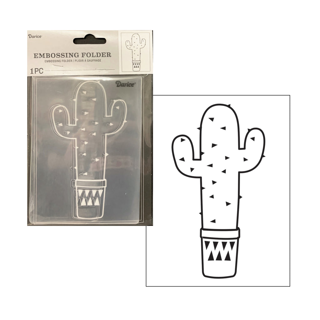 Cactus Embossing Folder By Darice Embossing Folders 30041332 - Inspiration Station Scrapbook Store & Retreat