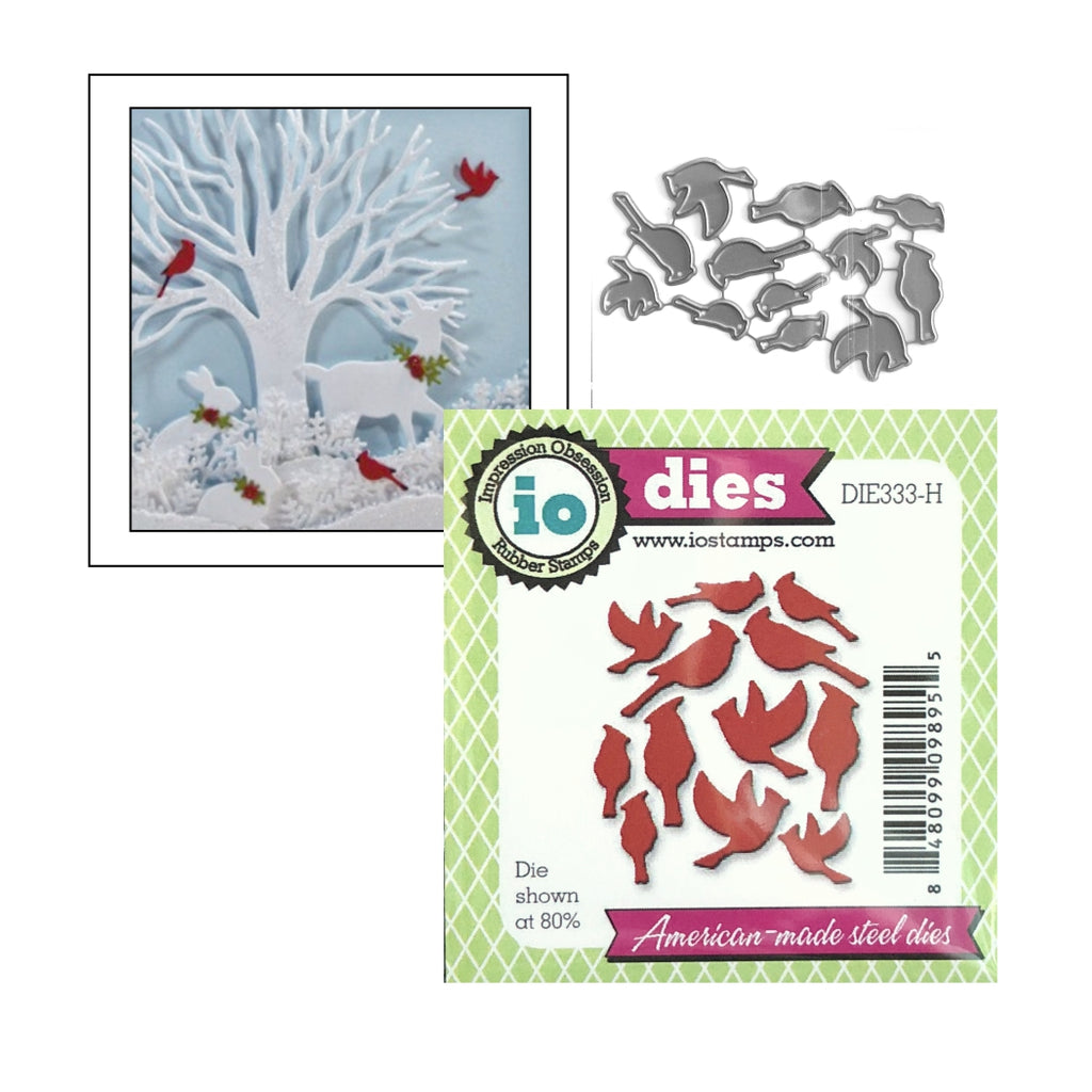 Cardinals Metal Die Set by Impression Obsession Dies DIE333-H - Inspiration Station Scrapbook Store & Retreat