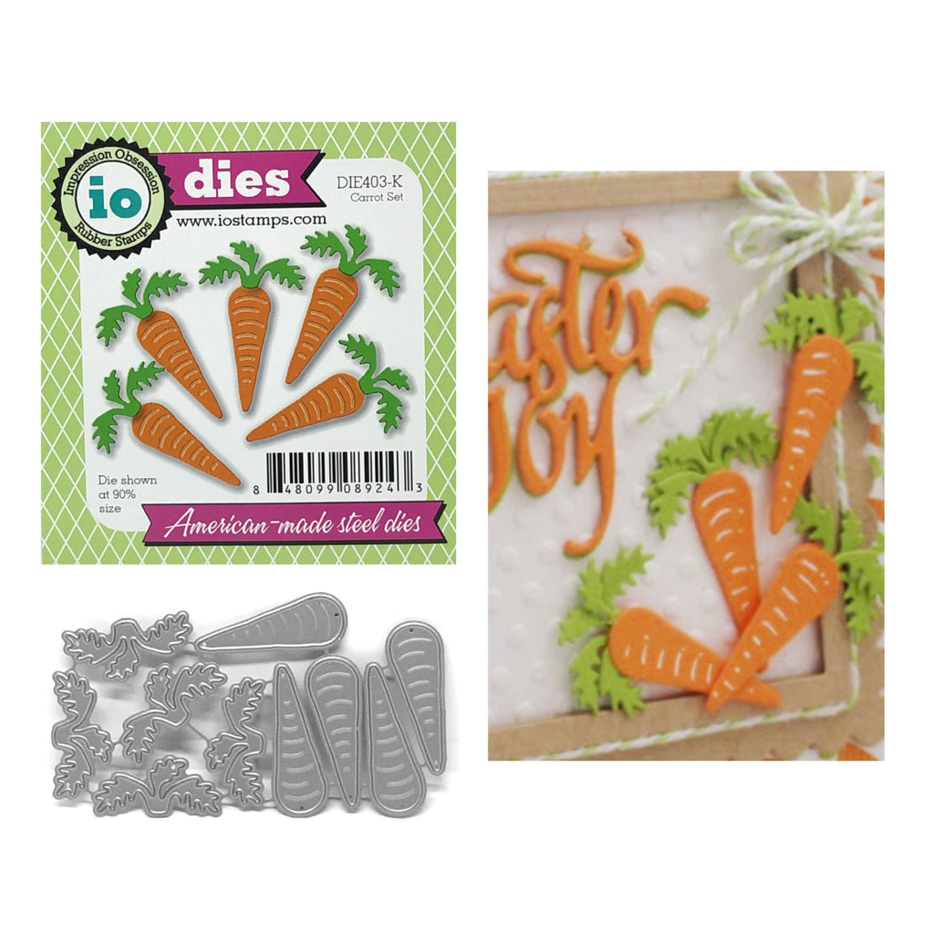 Carrot Set Die Cut Set by Impression Obsession Dies DIE403-K - Inspiration Station Scrapbook Store & Retreat