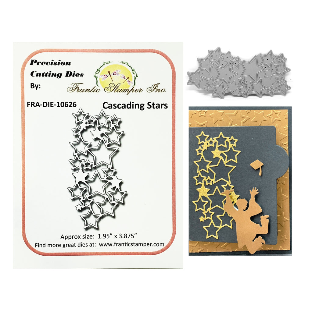 Cascading Stars Metal Die by Frantic Stamper Dies FRA-DIE-10626 - Inspiration Station Scrapbook Store & Retreat