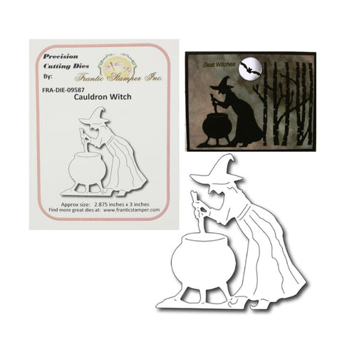 Cauldron Witch Metal Die Cut by Frantic Stamper FRA-DIE-09587 - Inspiration Station Scrapbook Store & Retreat