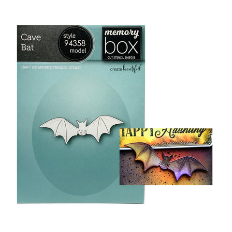 Cave Bat Metal Die Cut Set by Memory Box Halloween Craft Dies 94358