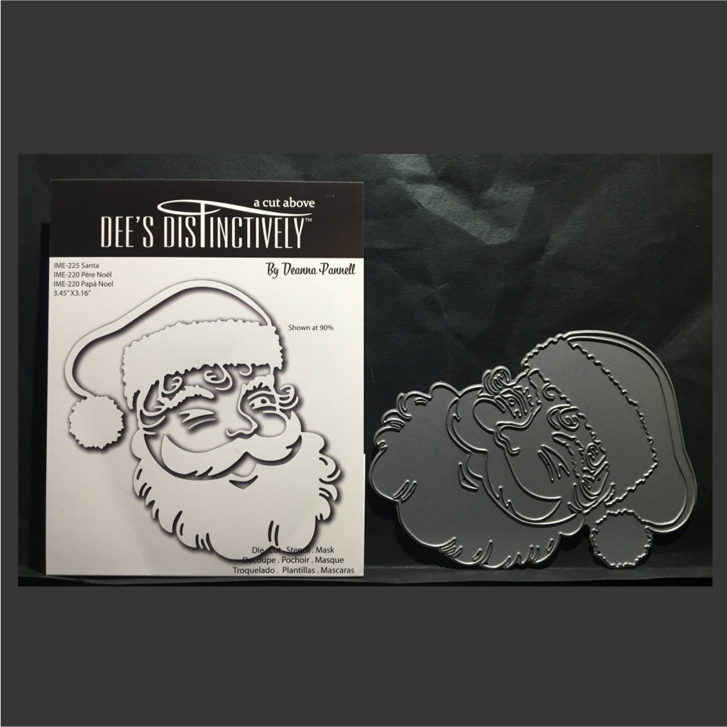 Santa thin metal die by Dee's Distinctively Cutting Dies  IME-225