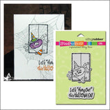 Hang Out Spider cling rubber stamp set - Stampendous Stamps CRS2043