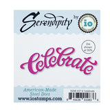 Celebrate Words metal Die Cut by Serendipity Stamps 037ED - Inspiration Station Scrapbook Store & Retreat