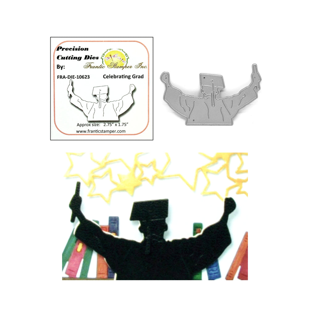 Celebrating Grad Metal Die by Frantic Stamper Dies FRA-DIE-10623 - Inspiration Station Scrapbook Store & Retreat