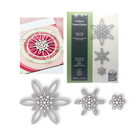 Celeste Snowflakes Thin Metal Die Set by Poppystamps Dies 1860 - Inspiration Station Scrapbook Store & Retreat