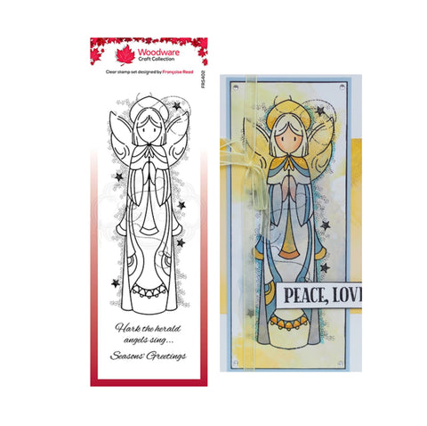 Celestial Angel Christmas Clear cling stamp set by Woodware craft stamps