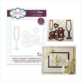 Champagne Flute Thin Metal Die Set by Sue Wilson for Creative Expressions Dies CED9404 - Inspiration Station Scrapbook Store & Retreat