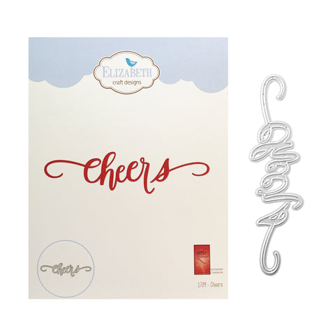 Cheers Word Metal Die Cut by Elizabeth Crafts Cutting Dies 1709 - Inspiration Station Scrapbook Store & Retreat