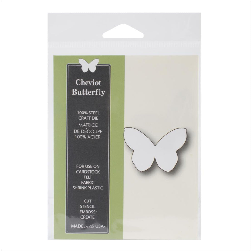 Cheviot Butterfly 1024 Thin Metal Die Cut by Poppystamps dies - Inspiration Station Scrapbook Store & Retreat