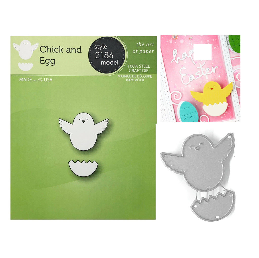 Chick and Egg Die Cut Set by Poppystamps Dies 2186 - Inspiration Station Scrapbook Store & Retreat
