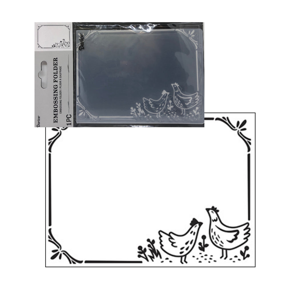 Chicken Border Embossing Folder By Darice Embossing Folders 30041280 - Inspiration Station Scrapbook Store & Retreat