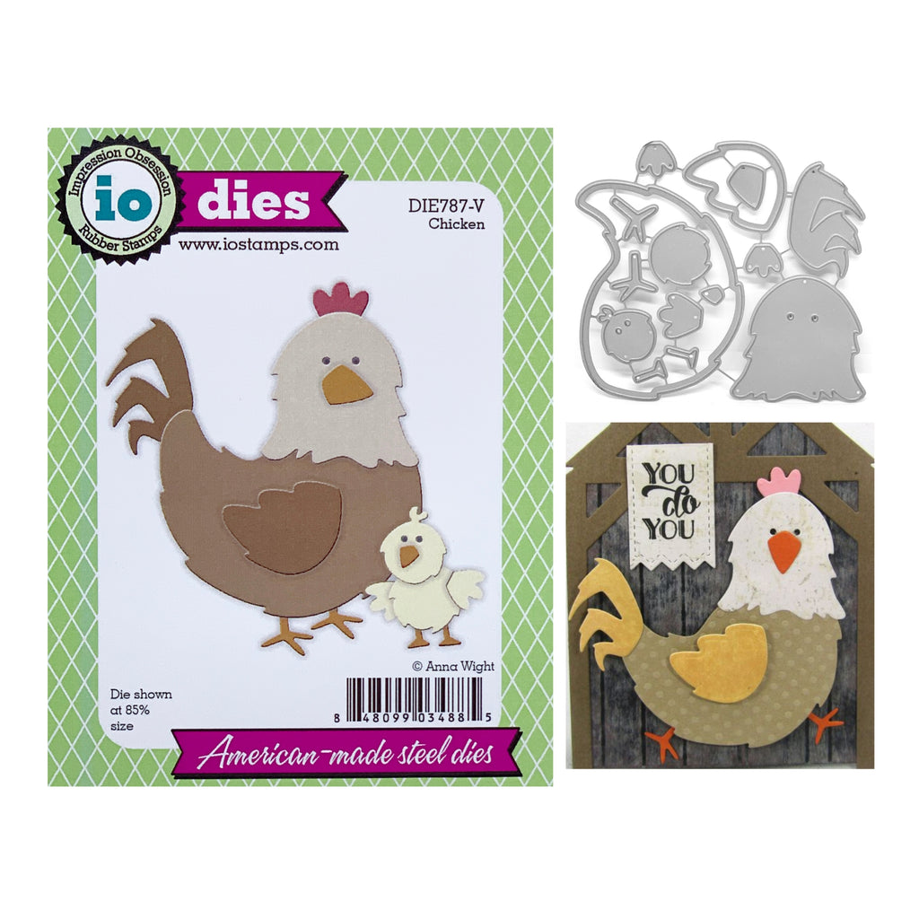 Chicken Metal Die Cut Set by Impression Obsession Dies DIE787-V - Inspiration Station Scrapbook Store & Retreat