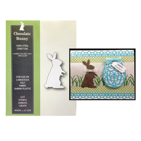 Chocolate Bunny Thin Metal Die Cut by Poppy Stamps 995
